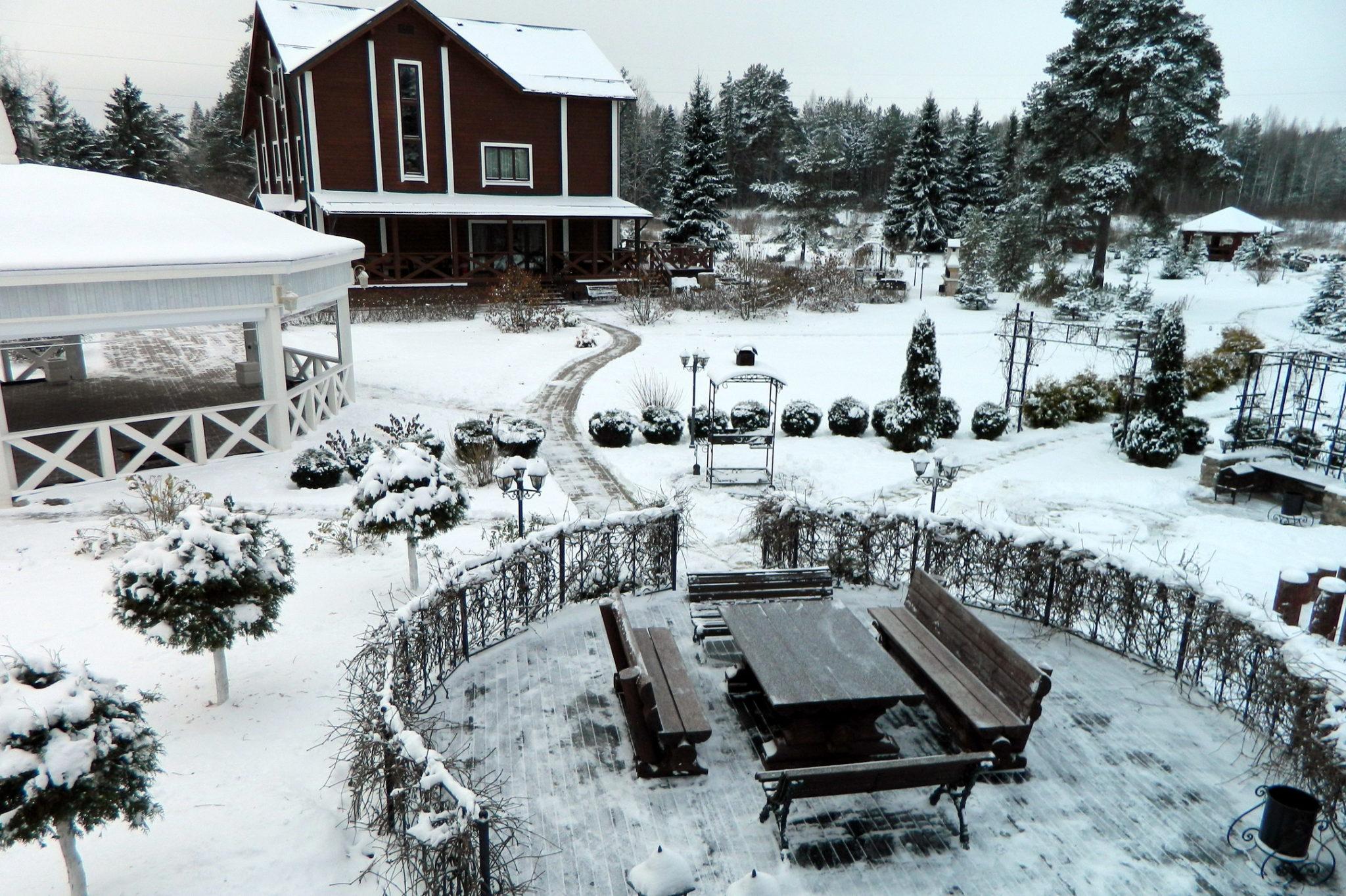 Отдых зимой на базе отдыха в Вологодской области